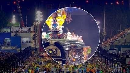Segunda noite de desfiles do Grupo Especial do Rio foi marcada por acidentes
