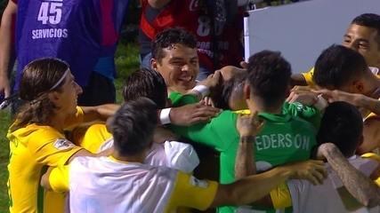 Os gols de Uruguai 1 x 4 Brasil pelas Eliminatórias da Copa de 2018
