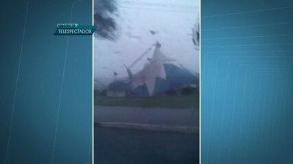 Tenda de circo desaba na Asa Norte