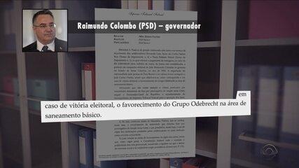 Governador de SC é suspeito de receber R$ 2 milhões para o caixa dois da campanha