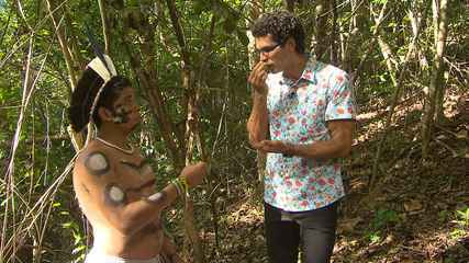 Integrantes da reserva Thá-Fene mostram como usar algumas plantas medicinais