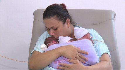 Mãe dá à luz trigêmeos em Londrina