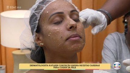 Aprenda a fazer máscara facial caseira