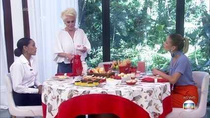 Ana Maria recebe Taís Araújo e Fernanda de Freitas