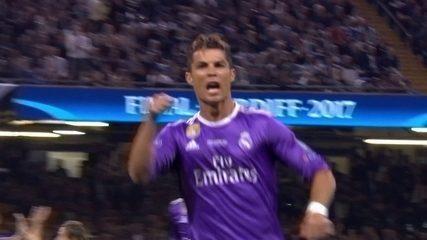 Eu tô aqui! Cristiano Ronaldo abriu o placar no título da Champions de 2016/17 contra a Juventus