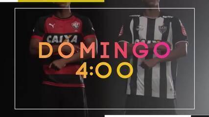TV Globo Minas transmite Vitória x Atlético-MG, neste domingo, pelo Brasileirão