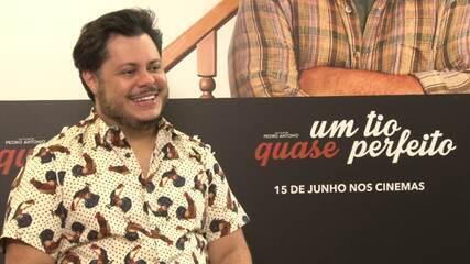 """Leo Portiolli foi à coletiva de lançamento do filme """"Um Tio Quase Perfeito"""""""