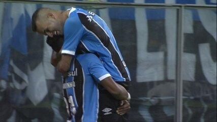 Os gols de Grêmio 2x0 Coritiba pela 9ª rodada
