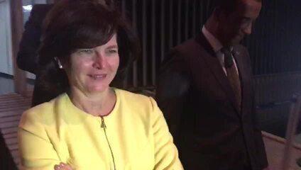 Procuradora Raquel Dodge deixa anexo do Senado onde se reuniu com Eunício Oliveira