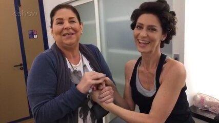 Maria Fernanda Cândido revela o segredo das unhas de Joyce