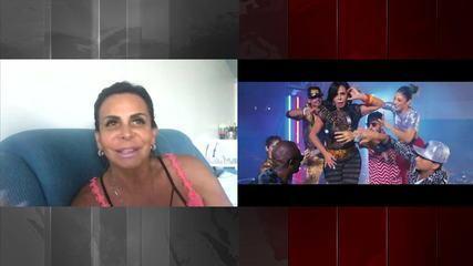 """""""Foi o máximo"""", diz Gretchen, que é a estrela do novo clipe da cantora Katy Perry"""