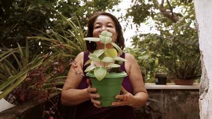 A série Cidade Verde conhece Dona Gilcélia, amante pelo cultivo de plantas