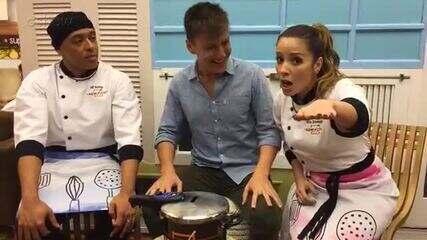 Felipe Suhre bate papo com os empapelados Mc Koringa e Renata Dominguez
