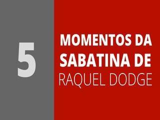 Veja momentos da sabatina de Raquel Dodge