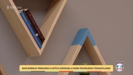 Marceneiras ensinam a fazer prateleiras triangulares