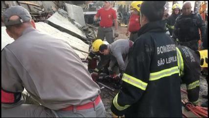 Desabamento em São Leopoldo deixa dois mortos e três feridos
