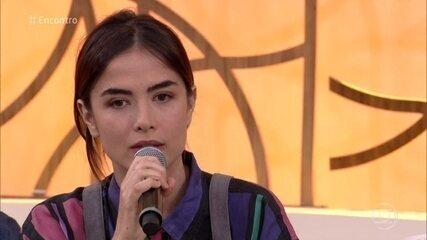 Maria Casadevall comenta relação entre Rimena e Gustavo em 'Os Dias Eram Assim'