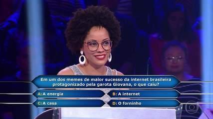 Olivia Miranda desiste na pergunta de R$ 50 mil