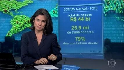 Saque de contas inativas do FGTS somou R$ 44 bilhões