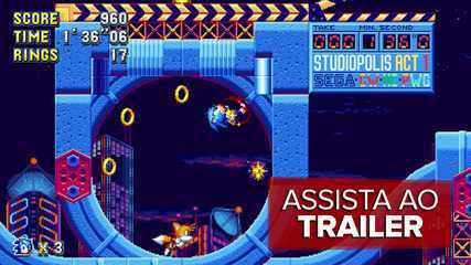 Veja trailer de 'Sonic Mania', novo game do mascote da Sega