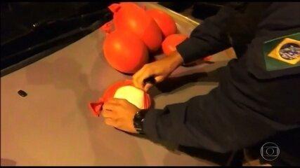 PRF prende homem que transportava droga escondida dentro de balões