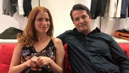 Marcelo Serrado e Julia Lund comentam reencontro entre Malagueta e Mônica