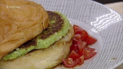 Hambúrguer de brócolis e couve-flor é uma opção saudável para o seu lanche