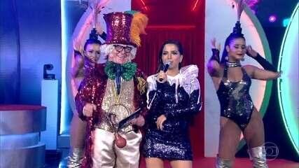 Anitta foi presença poderosa no palco do programa em homenagem a Chacrinha