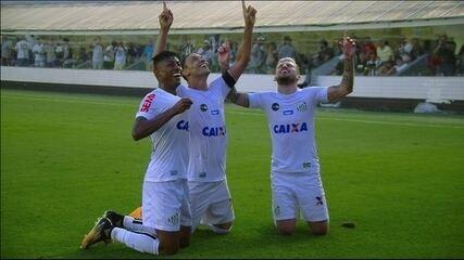 Gol do Santos! Bruno Henrique toca para Ricardo Oliveira que amplia aos 47' do 2º