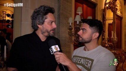 Daniel Viana entrevista elenco no lançamento da série Filhos da Pátria