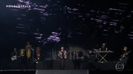 Frejat canta 'Pense e dance' em terceira noite do Rock in Rio