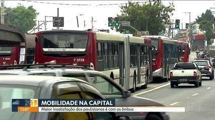 Pesquisa mostra que paulistanos estão insatisfeitos com o transporte público