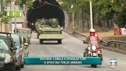 Blindados da Marinha chegam para operação na Rocinha