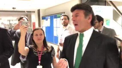 O ministro Luiz Fux, do STF, defende decisão do STF que afastou Aécio Neves