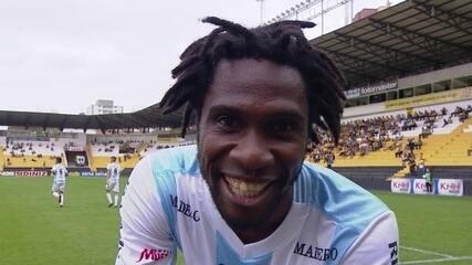 Gol do Londrina! Carlos Henrique cruza para Negueba, que chega batendo aos 11 do 1º tempo