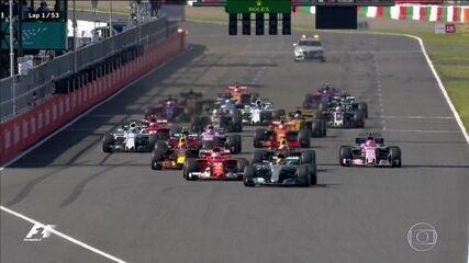 Confira a emocionante largada do GP do Japão de Fórmula 1