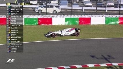 Lance Stroll tem problema no carro e abandona GP do Japão