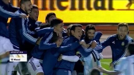 Messi leva a Argentina para a Copa de 2018 com três gols sobre o Equador na última rodada
