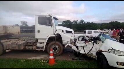 Acidente mata duas pessoas na PR-151, em Ponta Grossa