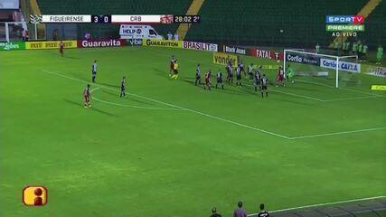 Adalberto marcou o gol do Galo na derrota por 3 a 1 para o Figueirense
