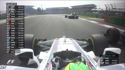 Massa ultrapassa Grosjean
