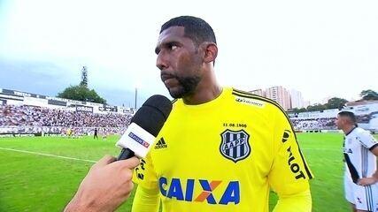 Aranha fala sobre grandes defesas em jogo inspirado diante do Corinthians