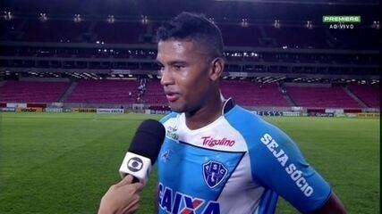 """Caion faz primeiros gols com camisa do Papão: """"Estava procurando há muito tempo"""""""