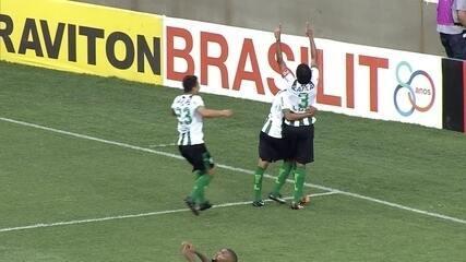 20 minutos: gol do América-MG! Rafael Lima abre o placar no Independência