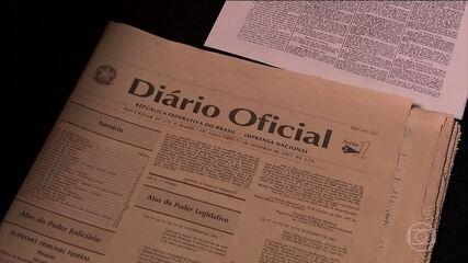 Versão impressa do Diário Oficial deixará de circular