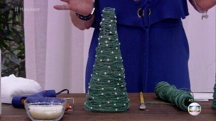 Aprenda a fazer uma miniárvore de Natal