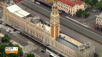 Relógio da Estação da Luz volta a funcionar após restauração