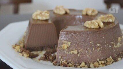 Culinária #013: Aprenda a fazer um pudim de chocolate com nozes