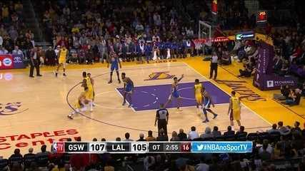 Melhores momentos: Golden State Warriors 116 x 114 Los Angeles Lakers pela NBA