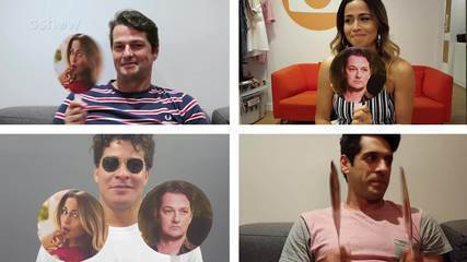Marcelo Serrado, Nanda Costa, Thiago Martins e João Baldasserini testam a amizade